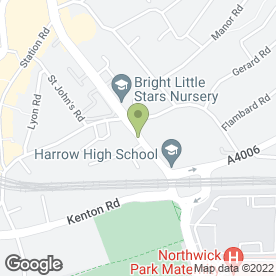 Map of Hill View Dental Practice Ltd in Harrow, middlesex