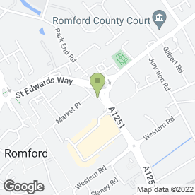 Map of Carphone Warehouse in Romford, greater london