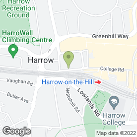 Map of LAWRENCE-VACHER in Harrow, middlesex