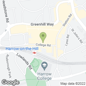 Map of Kebab Land in Harrow, middlesex