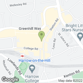 Map of Aumkar in HARROW, middlesex
