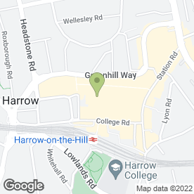 Map of The Harrow Watch & Jewellery Clinic in Harrow, middlesex