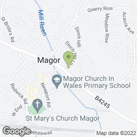 Map of MAGOR MOTORS in Magor, Caldicot, gwent