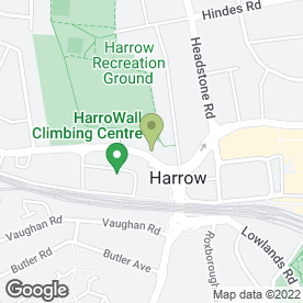 Map of The Harrow Hotel in Harrow, middlesex