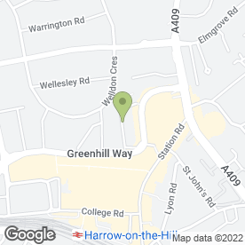 Map of Mark Schluter in Harrow, middlesex