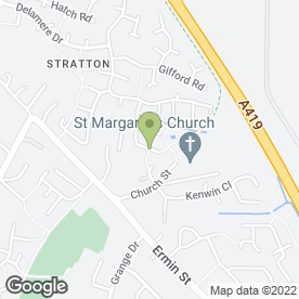 Map of Stratton St. Margaret Community Store in Stratton St. Margaret, Swindon, wiltshire