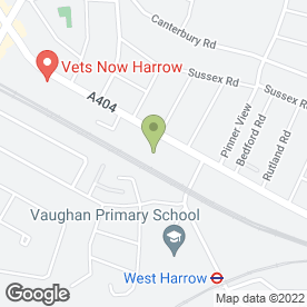 Map of Red Sky in Harrow, middlesex