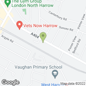 Map of Vauxhall - Northern Motors Harrow in Harrow, middlesex