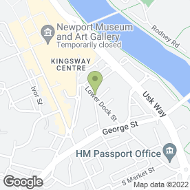 Map of Kingsway Upholsterers & Furnishers in Newport, gwent