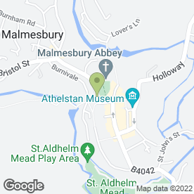Map of The Malmesbury Dry Cleaner Ltd, in Malmesbury, wiltshire