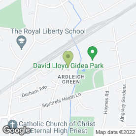 Map of Fast Property in Gidea Park, Romford, greater london