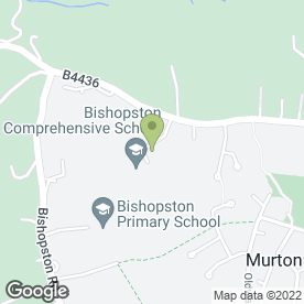 Map of Bishopston Comprehensive School in Bishopston, Swansea, west glamorgan