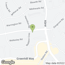 Map of Hindes Hotel in Harrow, middlesex