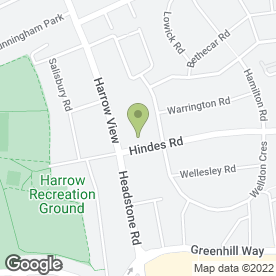 Map of Quainton Hall School in Harrow, middlesex
