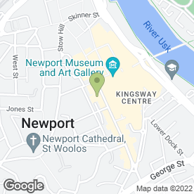 Map of Vision Express in Newport, South Wales, gwent