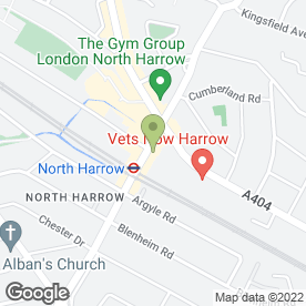 Map of Signity Jewellers, Signs & Trophies in North Harrow, Harrow, middlesex