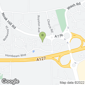 Map of RPA Security Systems in Steeleview, BASILDON, essex