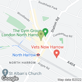 Map of Binsina Laser Clinic in Pinner Road, Harrow, middlesex