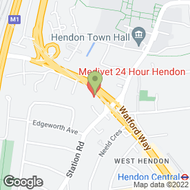 Map of Medivet Hendon - 24Hr Continous Care And Emergency Centre in London, london