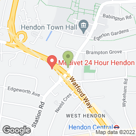Map of Hendon Sign Co in 25-27 The Burroughs, London, london