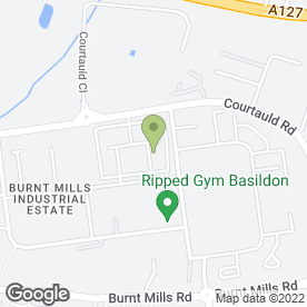 Map of Jeakins Motor Ltd in Burnt Mills, Basildon, essex