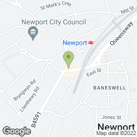 Map of Ashley Daniels in Newport, gwent
