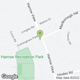 Map of DVD Weddings in Harrow, middlesex