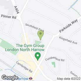 Map of B P Hawkins General Cleaning Contractors in Harrow, middlesex
