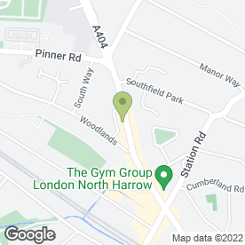 Map of Hoopers Carpets in Harrow Middlesex, middlesex