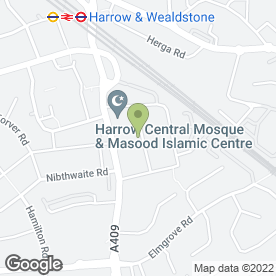 Map of PETER BROWN PLUMBING & HEATING in Harrow, middlesex