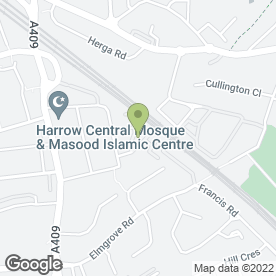 Map of B&M Glazing Ltd in Rosslyn Crescent, Harrow, middlesex