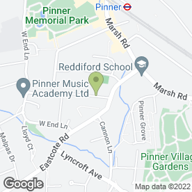 Map of COLLIE PROPERTY MAINTENANCE in Pinner, middlesex