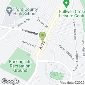Map of Specsavers Hearing Centres in Ilford, greater london