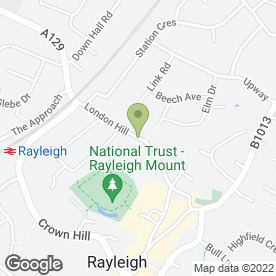 Map of Renco in Rayleigh, essex