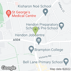 Map of Hendon Central Tyres in London, london