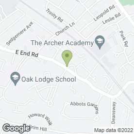 Map of The Five Bells in East Finchley, London, london