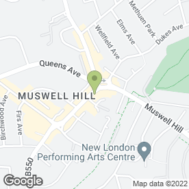 Map of Kinleigh Folkard & Hayward Letting Agents in Muswell Hill, london
