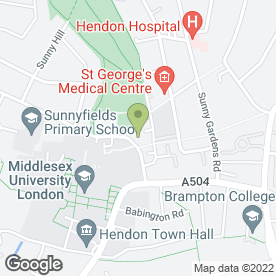 Map of Citizens Advice Bureau in Hendon, London, london