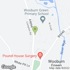Map of ALLEN ROOFING SUPPLIES in Wooburn Green, High Wycombe, buckinghamshire