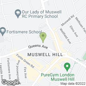 Map of Roseview Hotel in Muswell Hill, London, london
