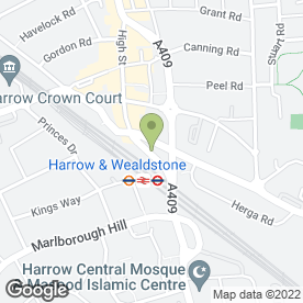 Map of Garside & Hoy in Wealdstone, Harrow, middlesex