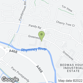 Map of South Wales Crash Repairs Ltd in Bedwas, Caerphilly, mid glamorgan