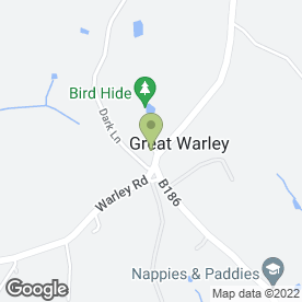 Map of Thatchers Arms in Great Warley, Brentwood, essex