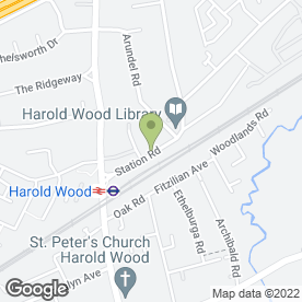 Map of Harold Wood Funeral Service Ltd in Romford, greater london