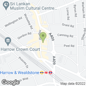 Map of Damian Haralld's Ltd in Wealdstone, Harrow, middlesex