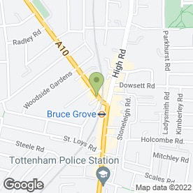 Map of Bruce Grove Supermarket in London, london