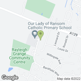 Map of GRANGE in Rayleigh, essex