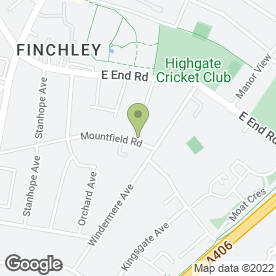 Map of Mountfield Surgery in Finchley, London, london