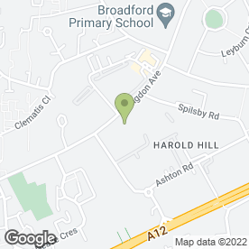 Map of F.P.S. in Harold Hill, Romford, greater london