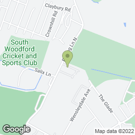 Map of Redbridge Garden Centre in Woodford Green, greater london